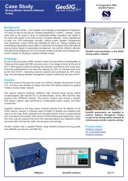 GeoSIG provides solutions for Strong Motion Networks