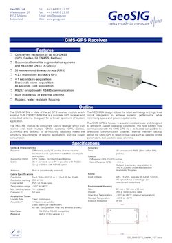GeoSIG Accessories - GMS-GPS